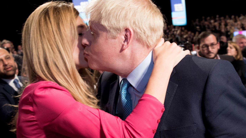 Carrie y su prometido, Boris Johnson. (EFE)