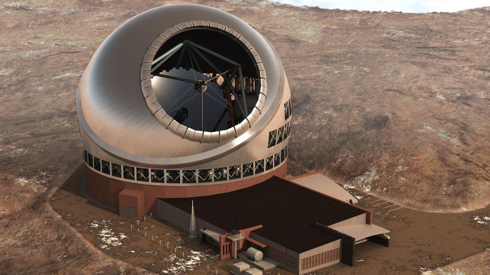 Foto: Así luciría el TMT en su emplazamiento de Mauna Kea. (Reuters)