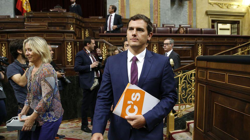 Foto: Albert Rivera, en la segunda sesión de investidura en el Congreso de los Diputados (EFE)