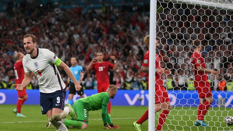Kane celebra el tanto. (Efe)