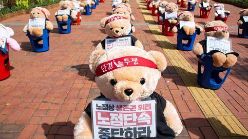 Protestas contra la política laboral en Seúl