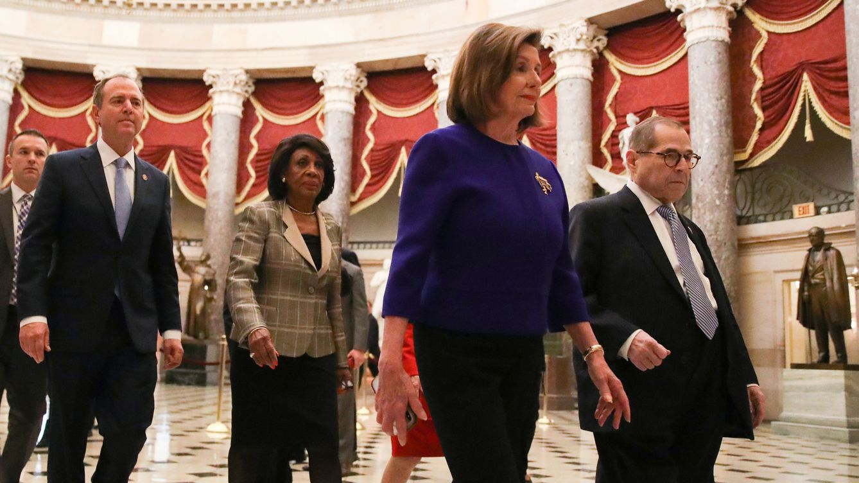 Los demócratas imputan a Trump cargos de abuso de poder y obstrucción al Congreso