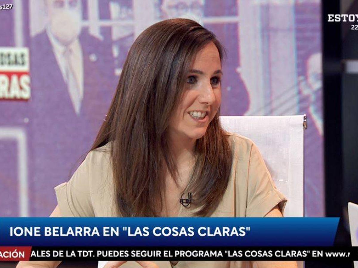 Foto: Ione Belarra, en 'Las cosas claras'. (RTVE)