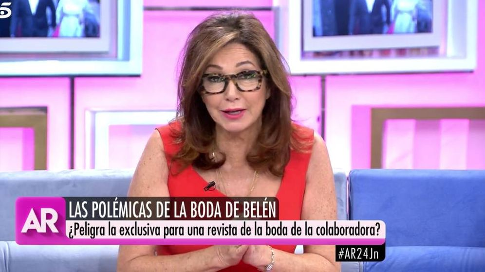 Foto: Ana Rosa Quintana aclara que no ha enviado ningún mensaje. (Mediaset)