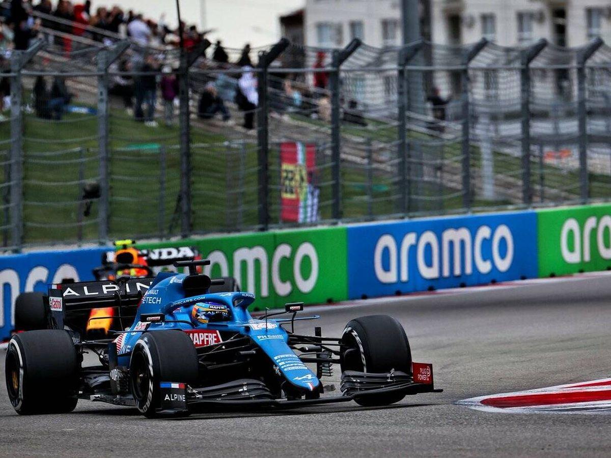 Foto: El ritmo de Alonso y Alpine en Sochi estuvo a punto de ser rematado con el podio.