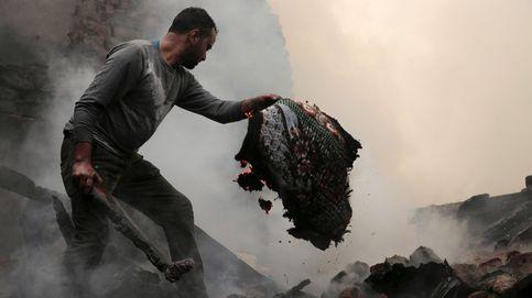 Fuego en Srinagar