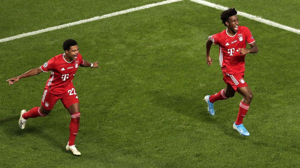 Foto: Coman celebra el gol del triunfo. (Efe)