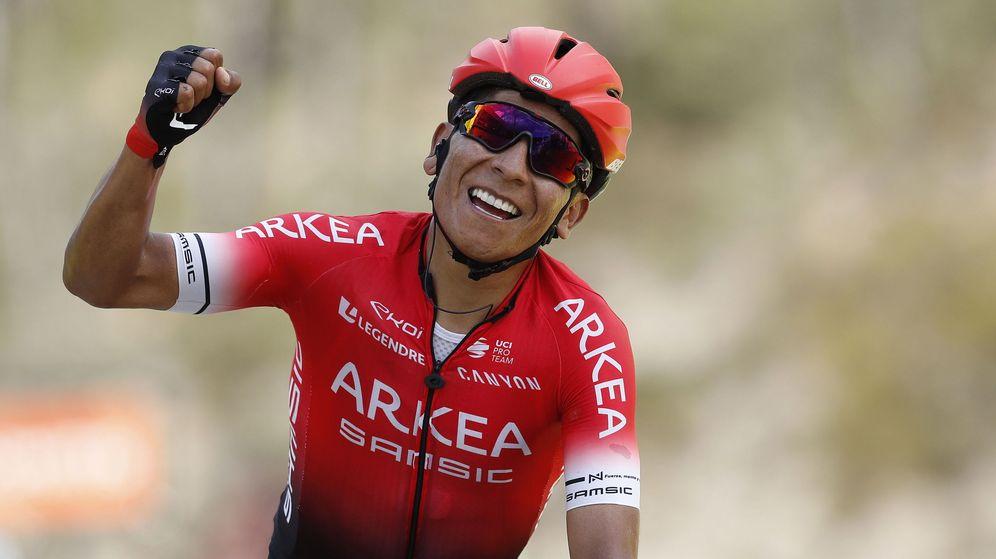 Foto: Nairo Quintana durante su victoria en la Paris-Niza este año. (EFE)