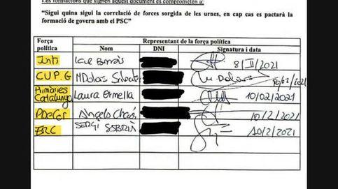 Compromiso secreto del soberanismo para cerrar el paso a Illa a la Generalitat