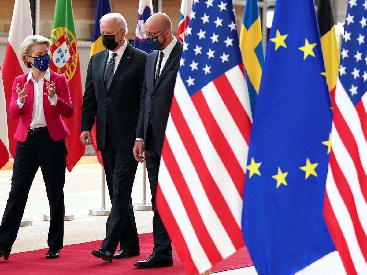 Foto: Cumbre UE-EEUU en Bruselas el pasado 15 de junio. (EFE)