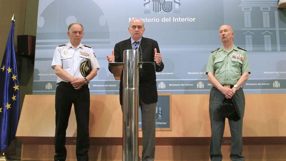 Foto: El ministro del Interior, Jorge Fernández Díaz, dado cuenta de los detalles de la operación conjunta de la Policía Nacional y la Guardia Civil. (EFE)