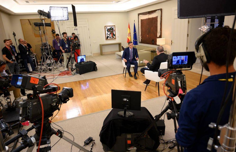 Foto: Pedro Sánchez, durante su entrevista con Antonio García Ferreras en 'Al rojo vivo', este 19 de septiembre en la Moncloa. (Borja Puig de la Bellacasa   Moncloa)