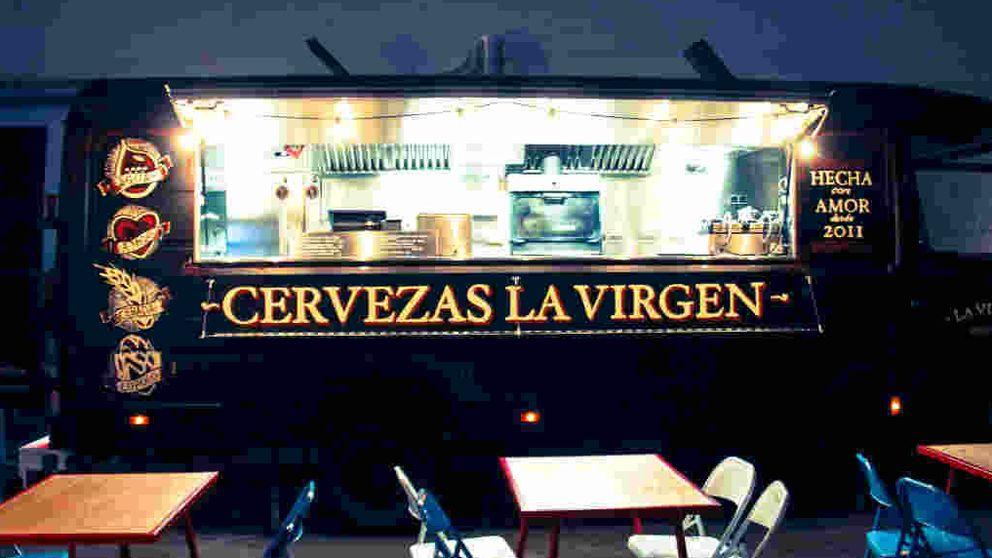 El 'Food truck' de cervezas La Virgen, auténtica comida callejera