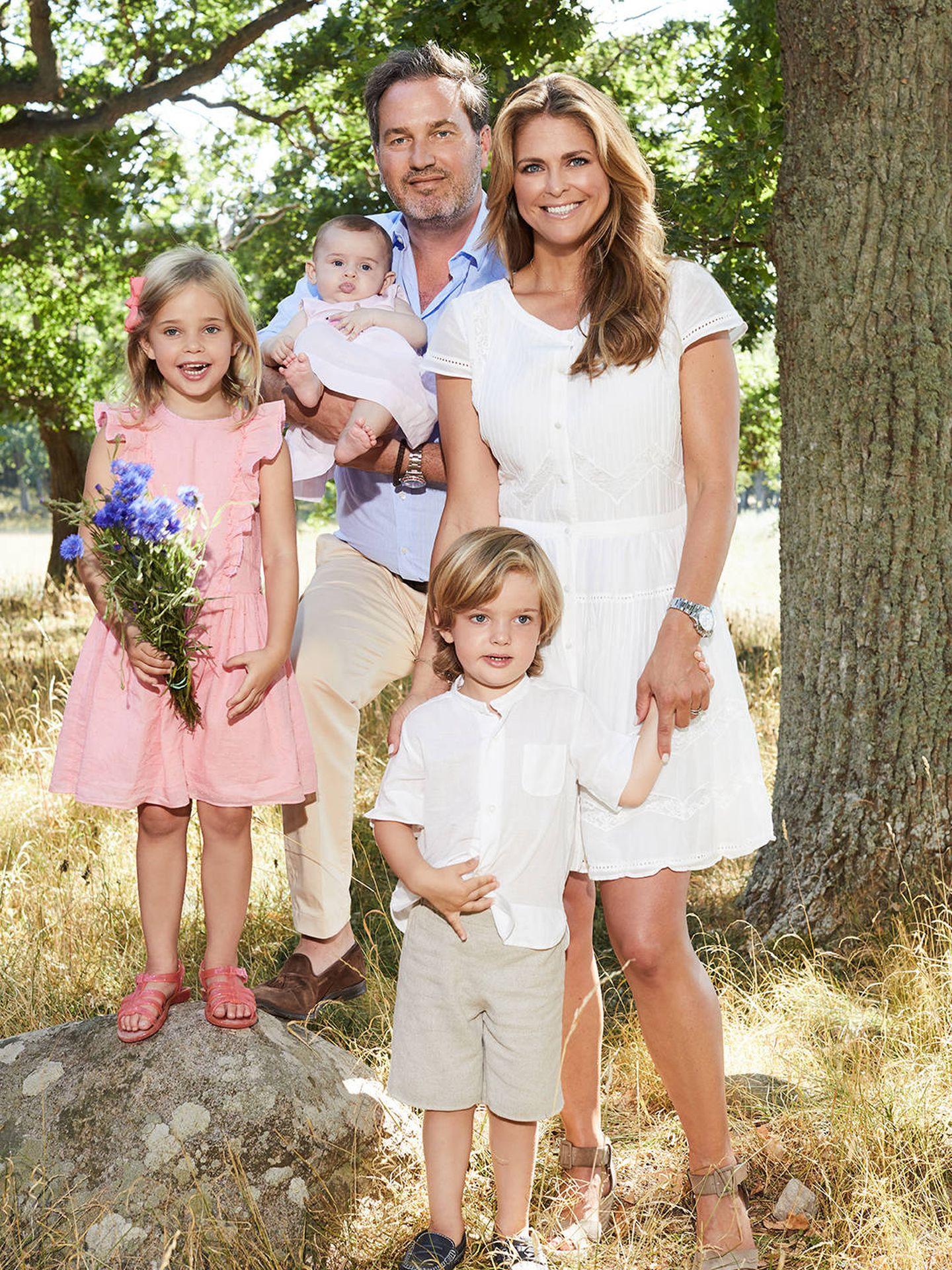 La familia de la princesa Magdalena. (Kungahuset)