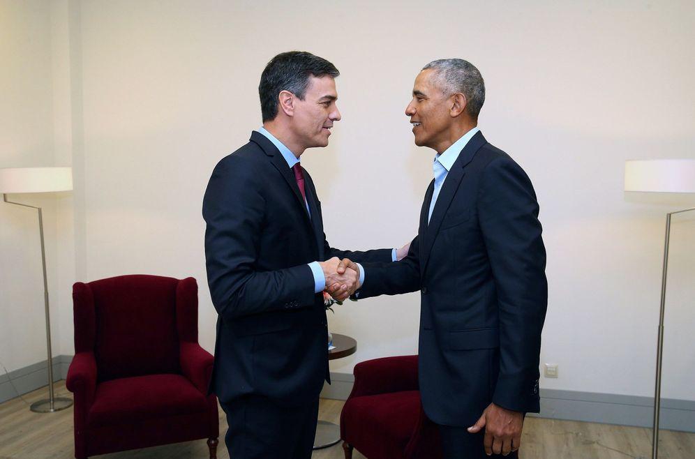 Foto: Pedro Sánchez, con Barack Obama, el pasado 6 de julio en Madrid. (EFE)