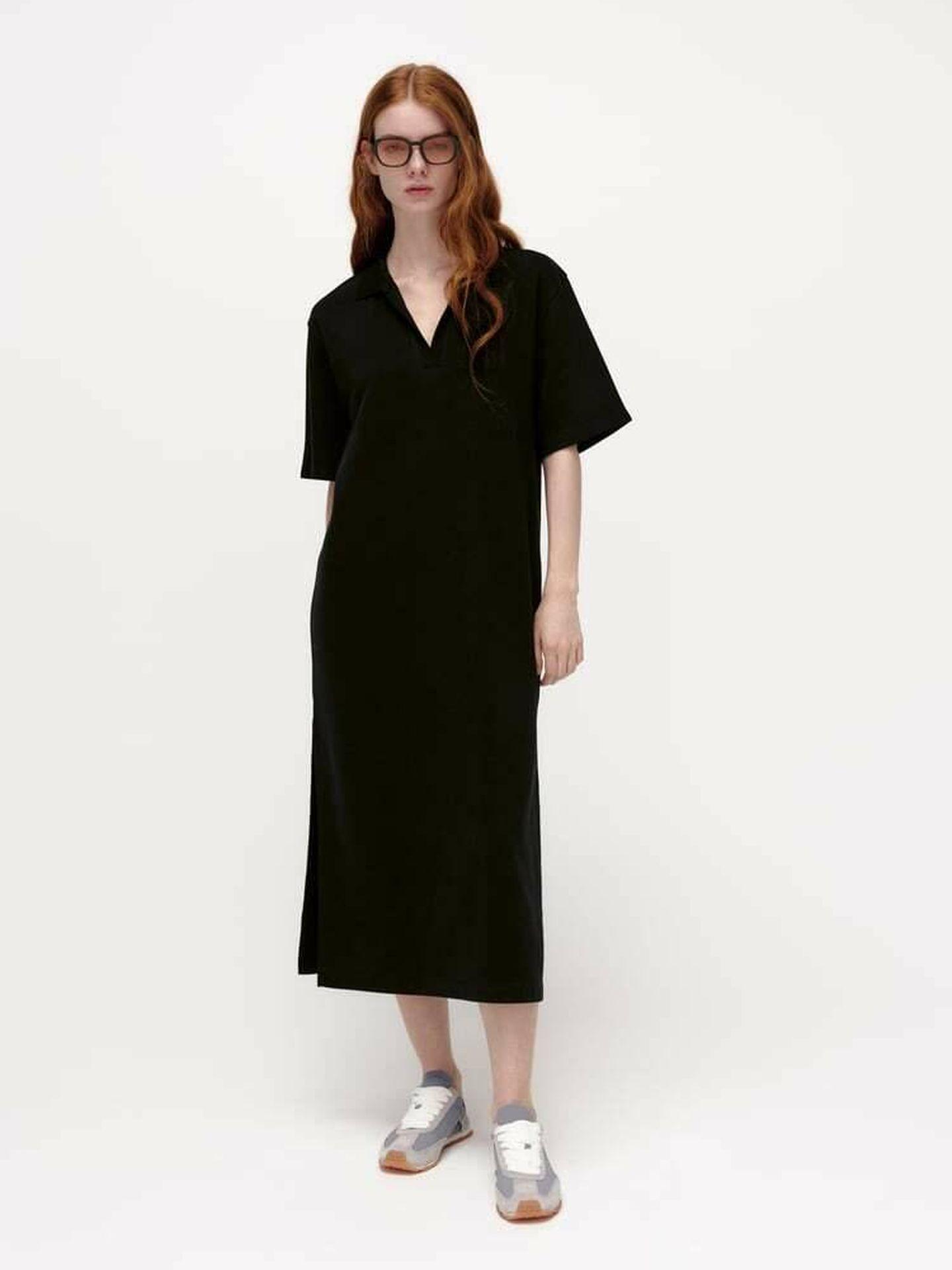El nuevo vestido de Zara en color negro. (Cortesía)