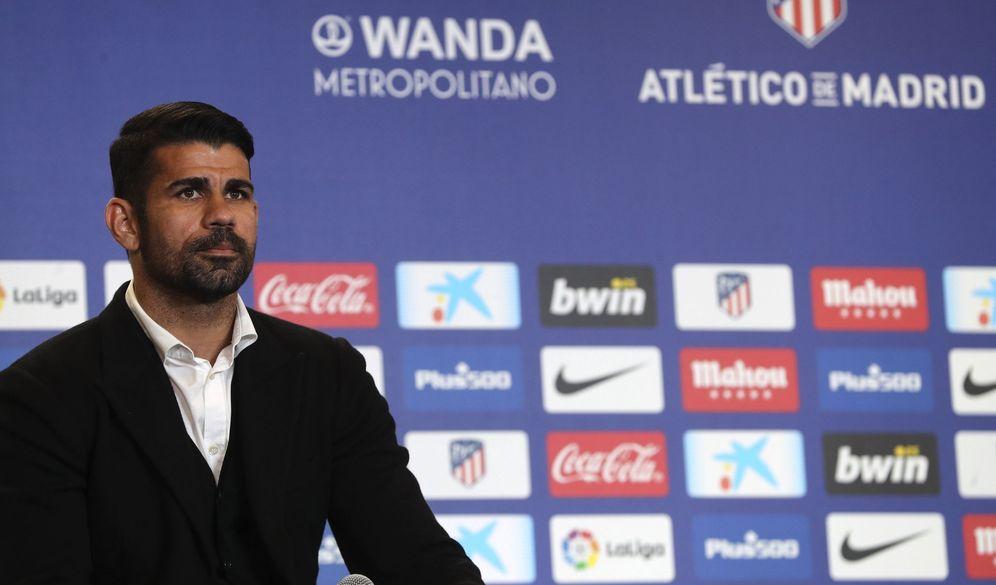 Foto: Diego Costa, durante su presentación como jugador del Atlético de Madrid. (EFE)