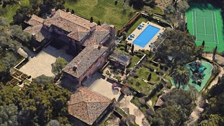La mansión e Meghan y Harry en California. (Google Earth)