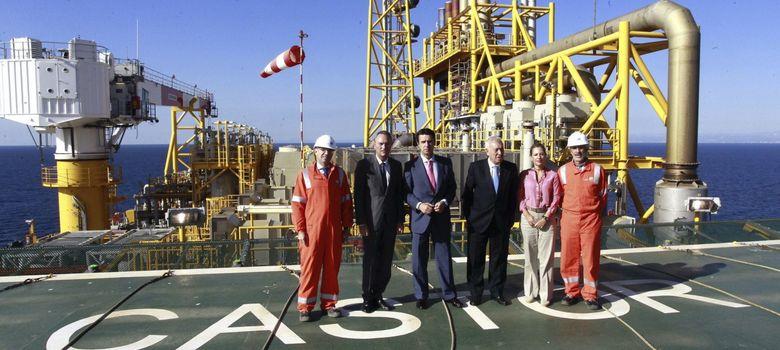 Foto: Fabra, Soria y Margallo visitan las instalaciones del almacenamiento subterráneo de gas castor