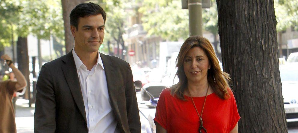 Foto: Pedro Sánchez con Susana Díaz