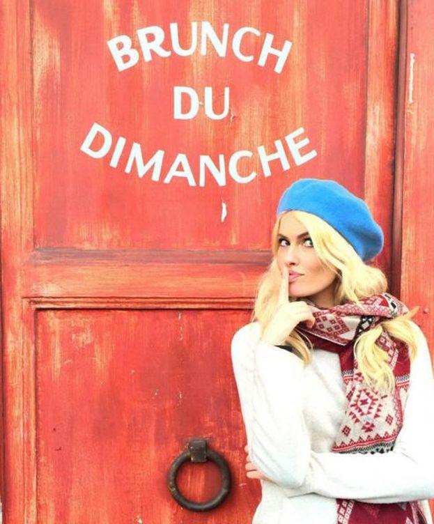 Foto: Adriana Abenia durante su luna de miel en Paris (Instagram)