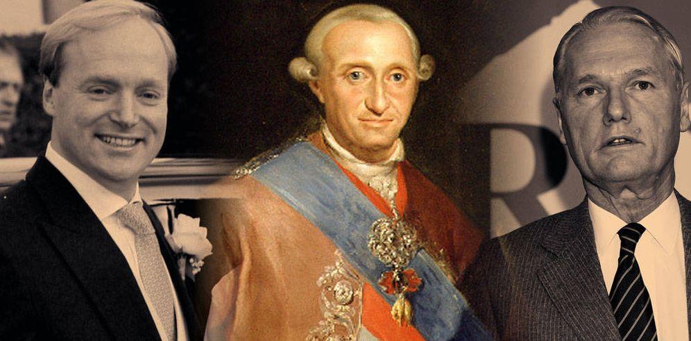 Foto: Carlos IV junto a Sixto y Carlos Javier Borbón Parma. (Vanitatis)