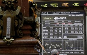 Bankia celebra su regreso al Ibex en zona de máximos del mes de mayo