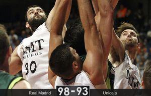Mirotic llega a tiempo para salvar al Madrid con 7 puntos en la prórroga