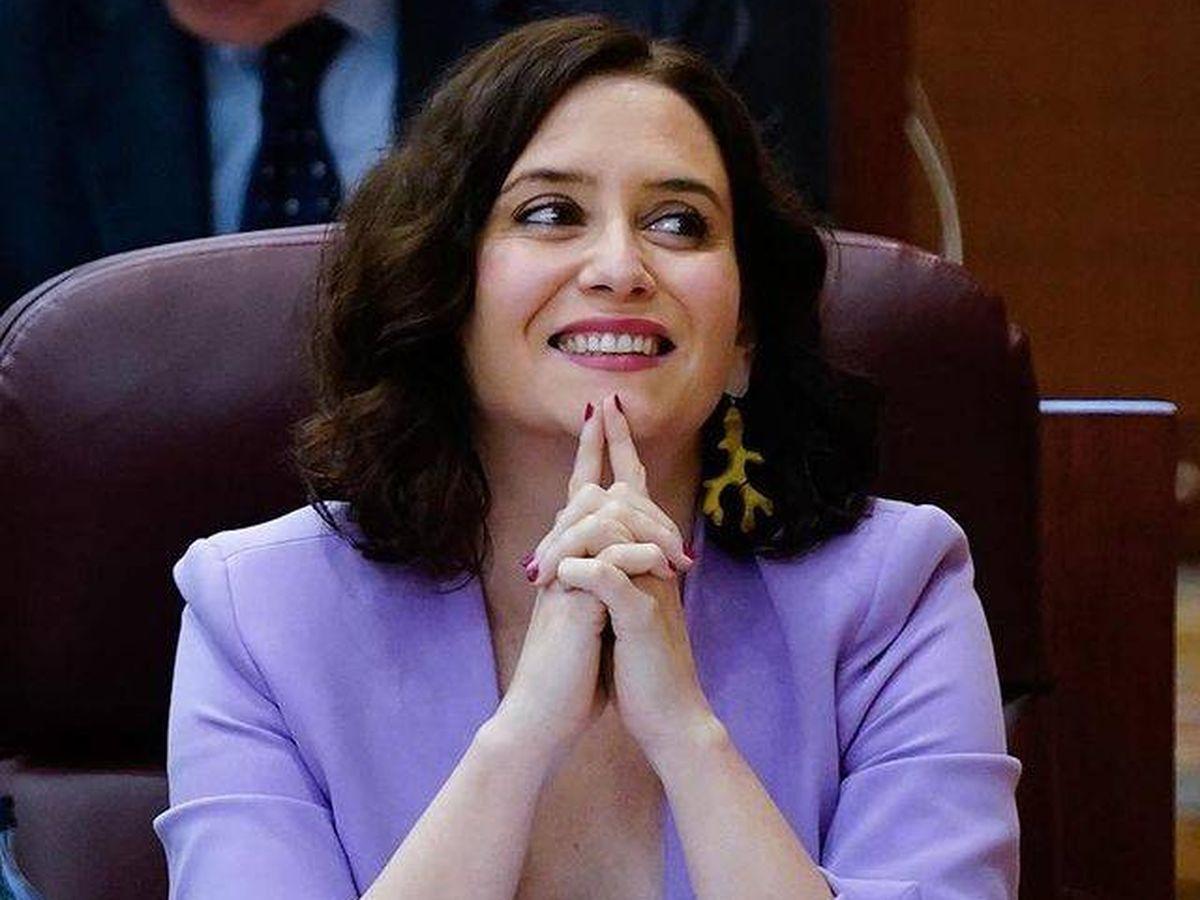 Foto: Isabel Díaz Ayuso, en una sesión plenaria de la Asamblea de Madrid. (Instagram @isabeldiazayuso)
