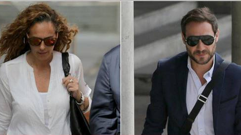 Antonio David Flores y Rocío Carrasco, camino del juzgado. (Gtres)