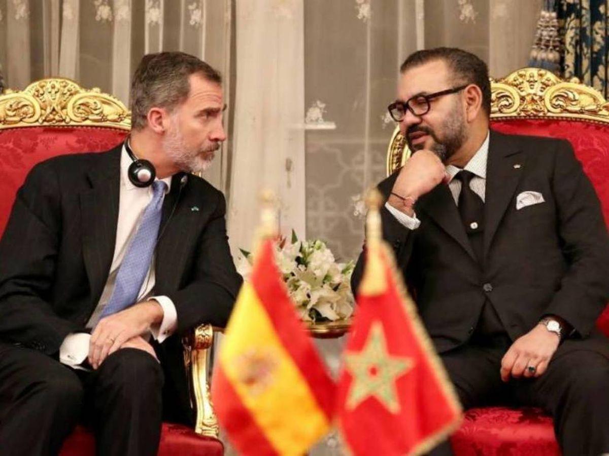 Foto: El rey de España, Felipe VI, y el rey de Marruecos, Mohamed VI.