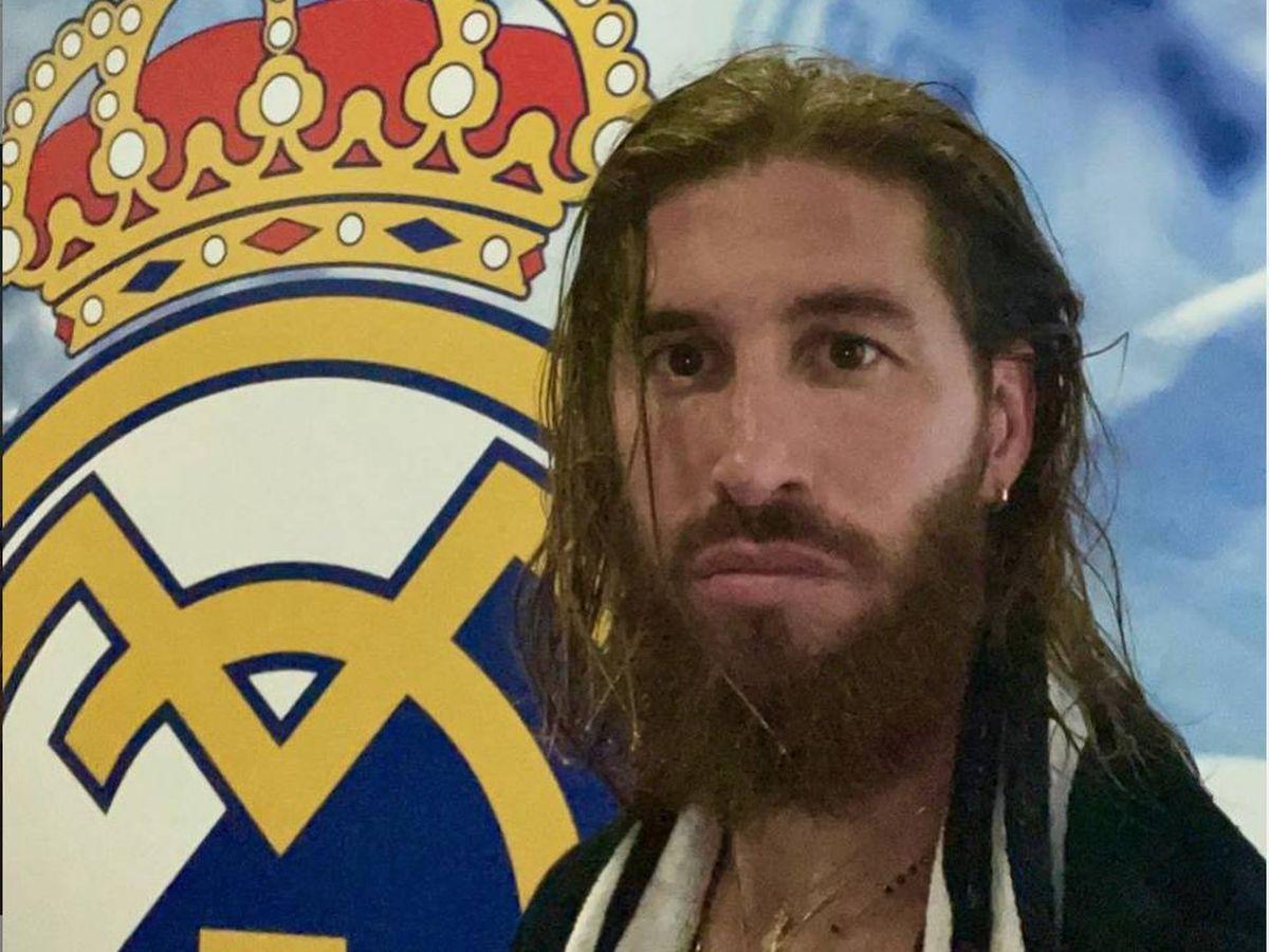 Foto: Sergio Ramos después de un entrenamiento con el Real Madrid. (@sergioramos)