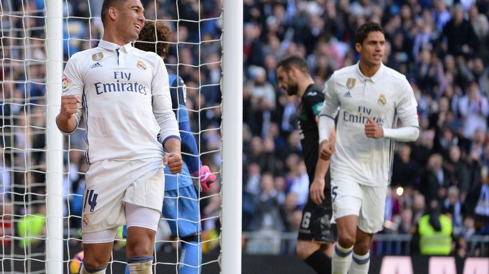 Foto: Casemiro es el último madridista en estrenarse como goleador esta temporada (Sonia Cañada/Cordon Press).