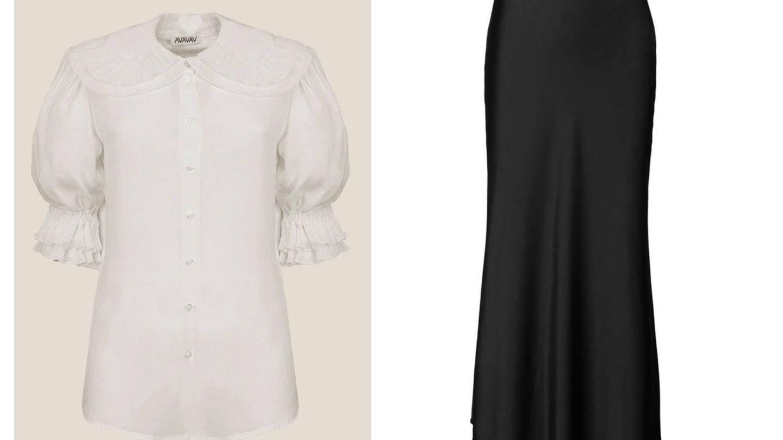 Las dos prendas del look de Victoria de Suecia. (Cortesía)