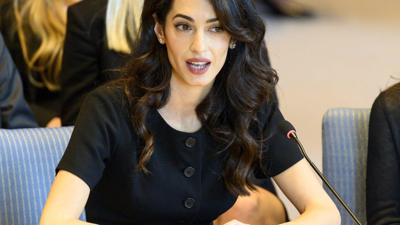 Amal Clooney en el Consejo de Seguridad de las Naciones Unidas. (Reuters)