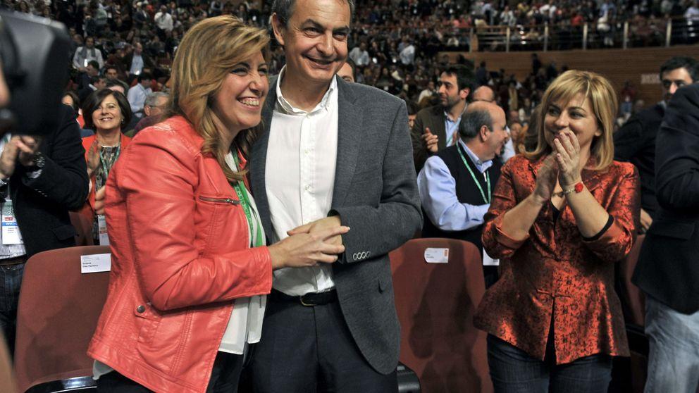 Susana Díaz arropa a Zapatero mientras Sánchez sigue sin agenda en Andalucía