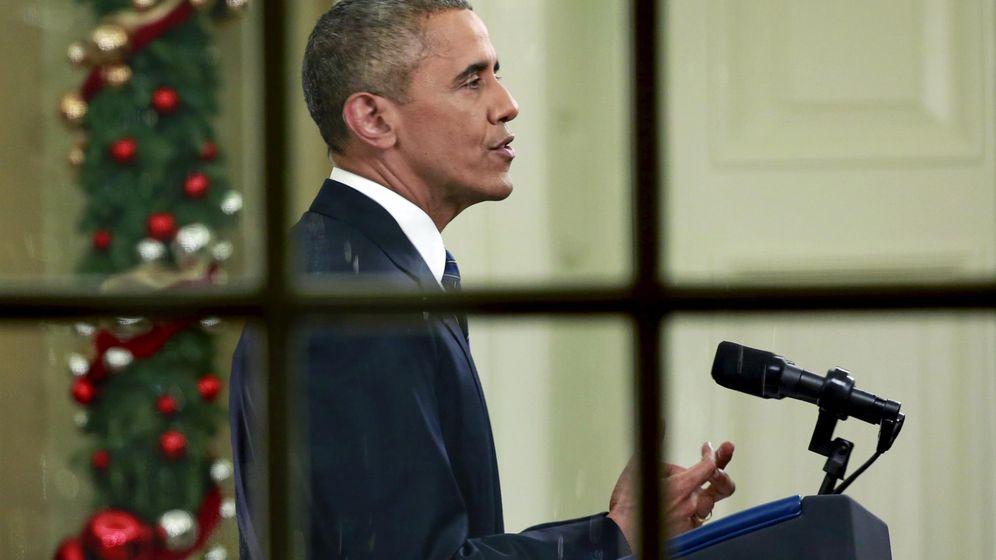 Foto: El presidente Barack Obama dirigiéndose al público estadounidense en horario de máxima audiencia, el 6 de diciembre de 2015 (Reuters)