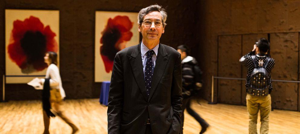 Foto: El comisario y consultor cultural Alfred Pacquement, en CaixaForum de Madrid.