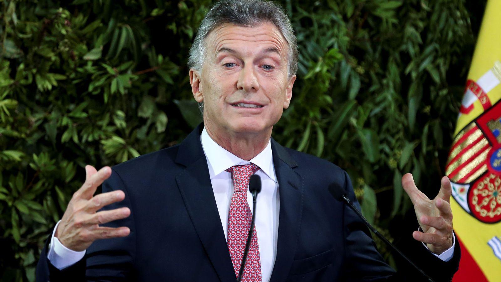 Foto: El presidente de Argentina, durante la visita oficial de los Reyes de España a Buenos Aires. (Reuters)