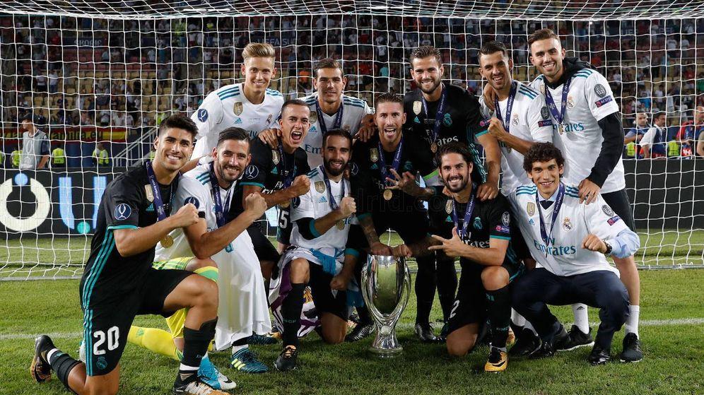 Foto: Todos los españoles del Real Madrid y Theo Hernández. (Real Madrid)