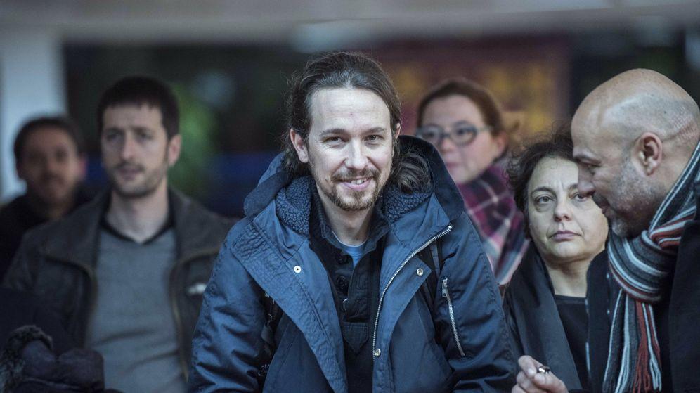 Foto: El secretario general de Podemos, Pablo Iglesias, en una asamblea de su partido celebrada el pasado viernes en Toledo. (EFE)