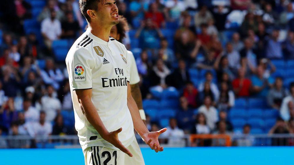 Foto: Brahim Díaz muestra un gesto de rabia e impotencia durante un partido con el Real Madrid. (Efe)