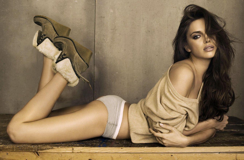 Foto: Irina Shayk para una campaña publicitaria