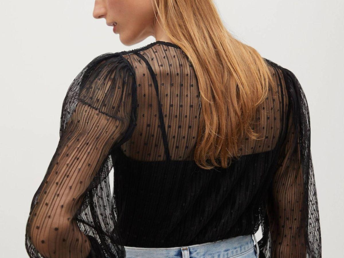 Foto: La blusa de Mango Outlet. (Cortesía)