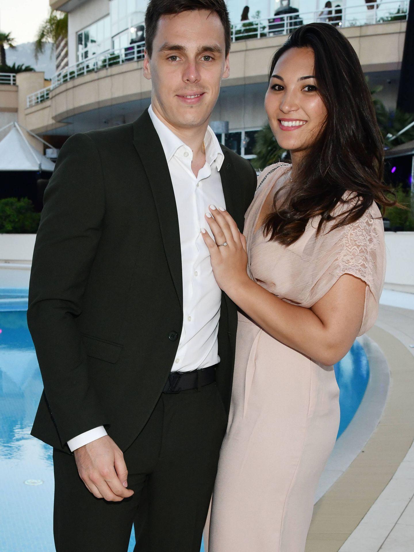 Louis Ducruet y su prometida, el pasado fin de semana en Mónaco. (Gtres)