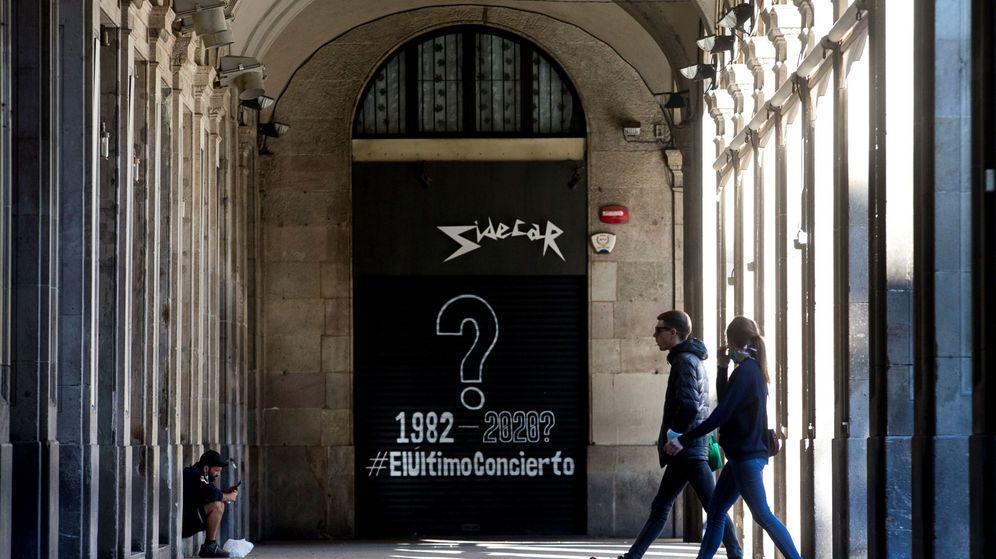 Foto: Una sala de conciertos cerrada en Barcelona. (EFE)