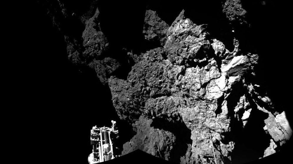 Foto: Una de las primeras imágenes del cometa enviada por Philae. (ESA)