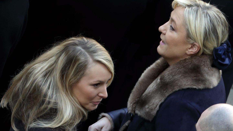 La líder del FN, Marine Le Pen, junto a su sobrina, Marion Maréchal Le Pen (Reuters)