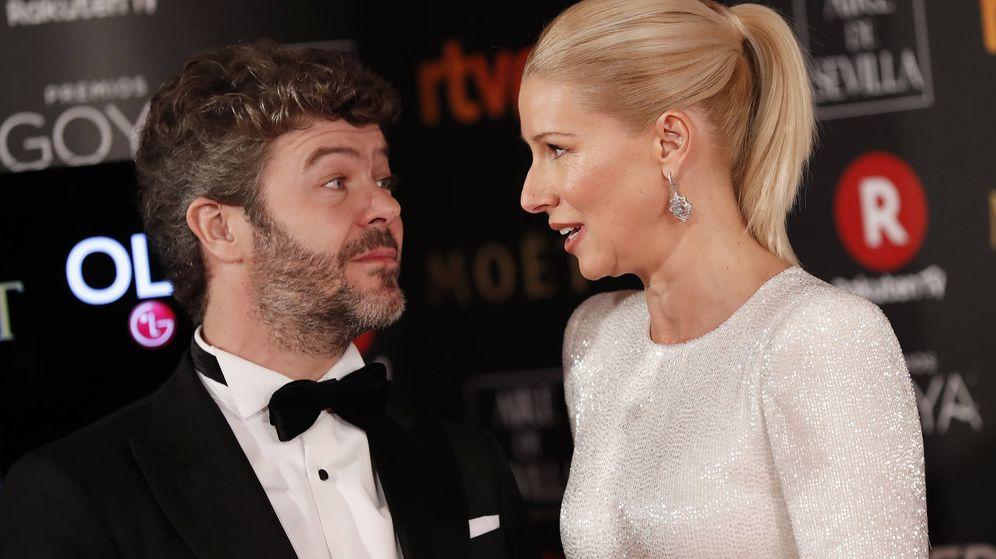 Foto:  Anne Igartiburu y su marido, en los Premios Goya. (Gtres)
