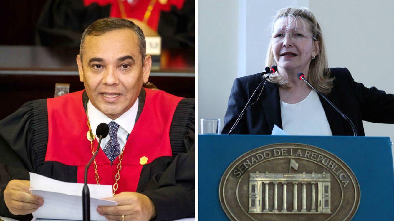 Foto: Maikel Moreno, presidente del Tribunal Supremo y Luisa Ortega, exfiscal general de Venezuela.(EFE)